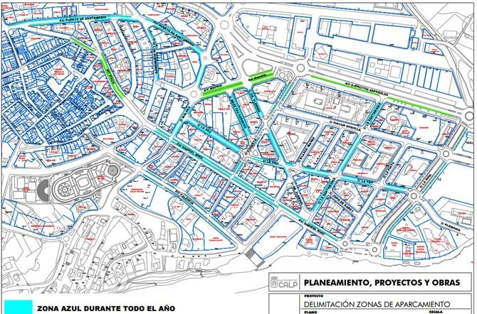 Mapa Zona Azul Valencia.La Ora Ya Esta En Marcha Calp Digital Informacion Y Actualidad De Calpe Al Minuto